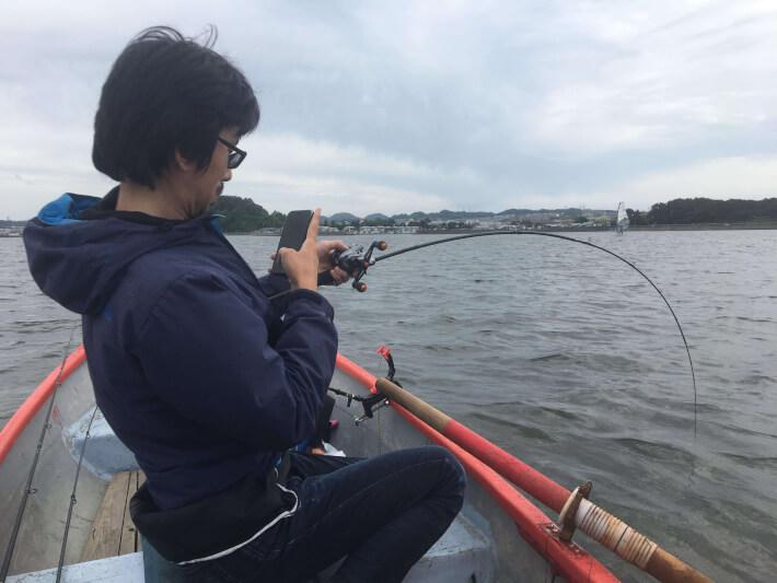 釣り 平田剛士 金沢八景・相川ボート 撮影中
