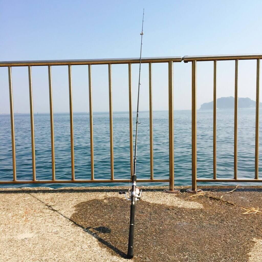 横須賀うみかぜ公園で釣り