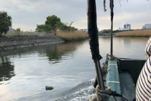 東京大田区六郷の多摩川から出るミナミ釣り船さんにて