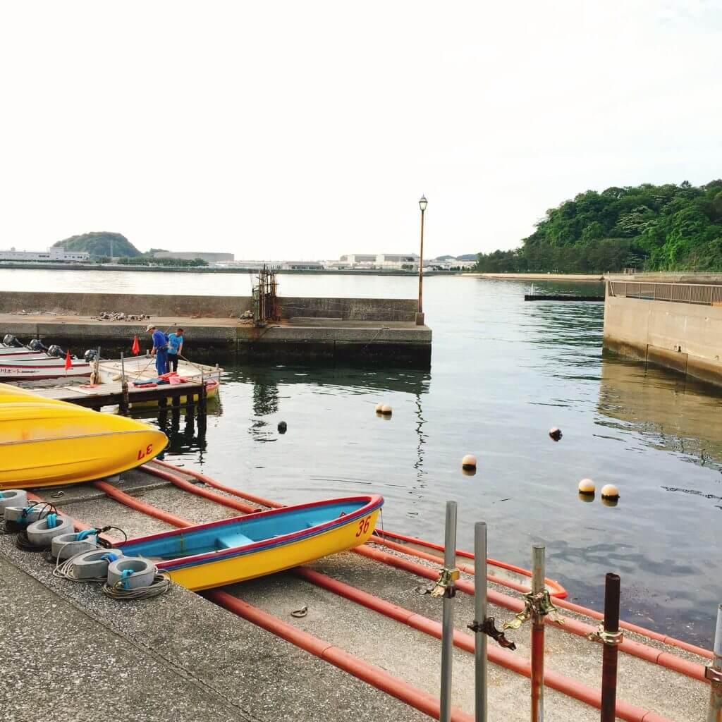 金沢八景・相川ボート ボートへの乗船の仕方がやや特殊
