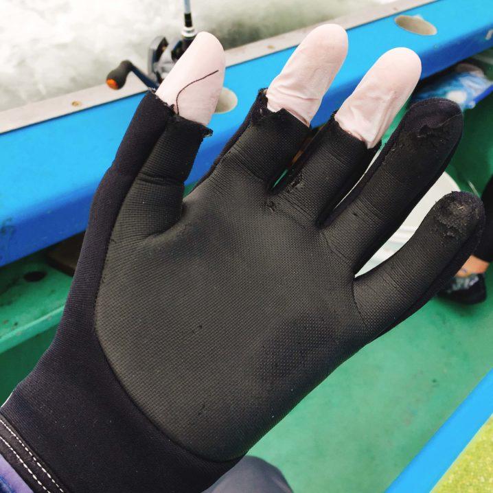 釣り道具 便利なニトリルゴム手袋