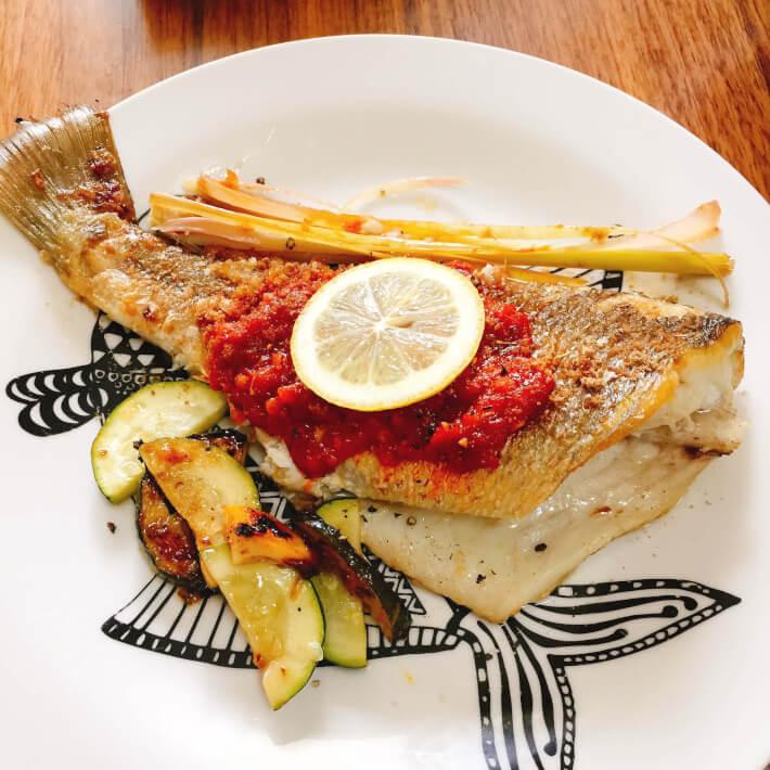 釣り料理 インドネシア風ソテー