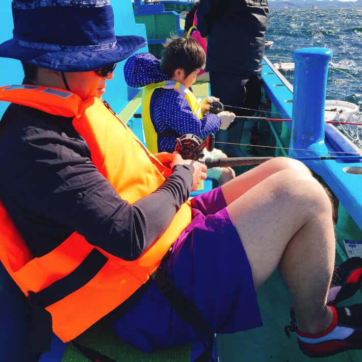 ORETSURI TABICAの船釣り 子供も参加