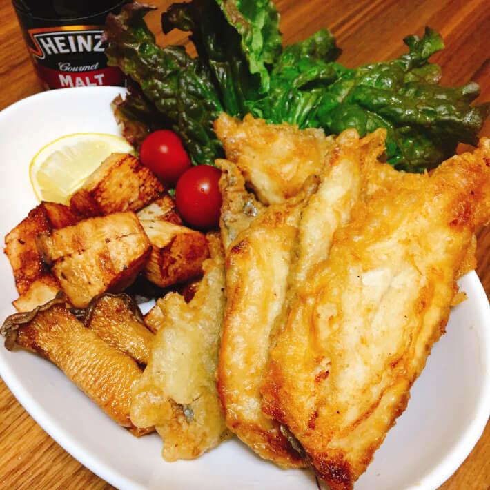 釣り料理 黄金アジのフィッシュ&チップス