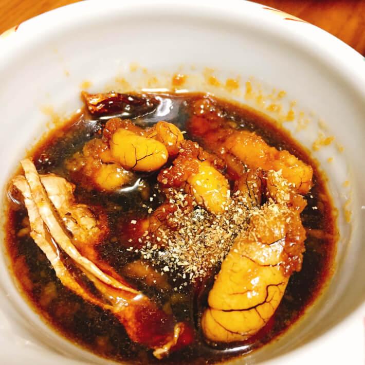 釣り料理 東京湾産黄アジの脂卵煮