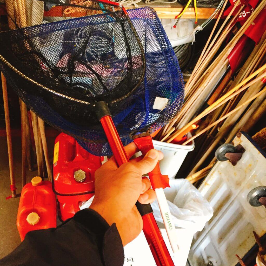 釣り道具 たも網