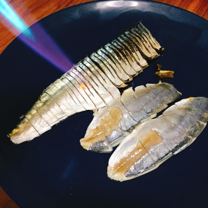 釣り料理 しめ鯖の炙り