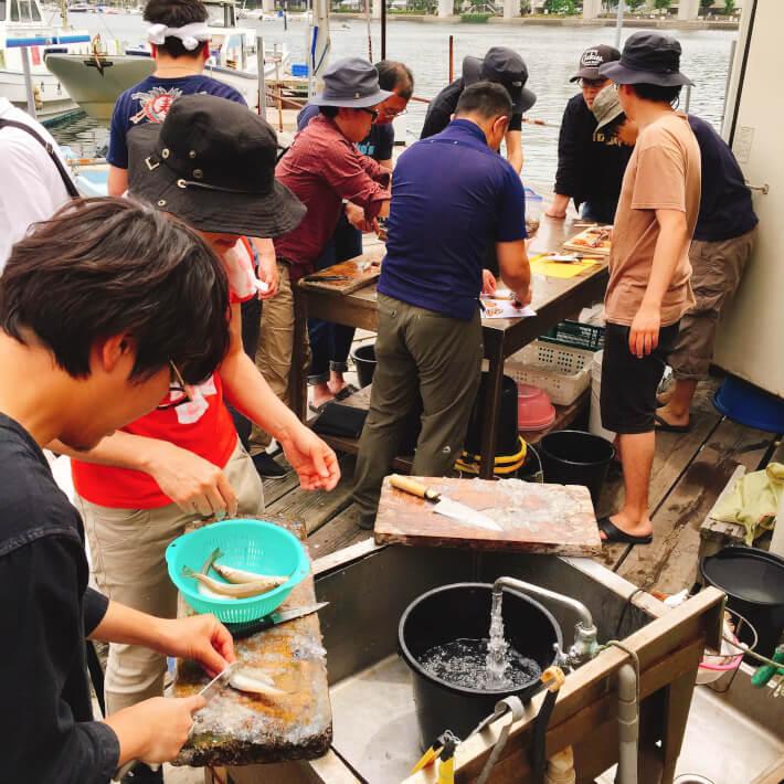リストランテORETSURI4(シロギス釣り・泳がせ釣り 魚の下処理