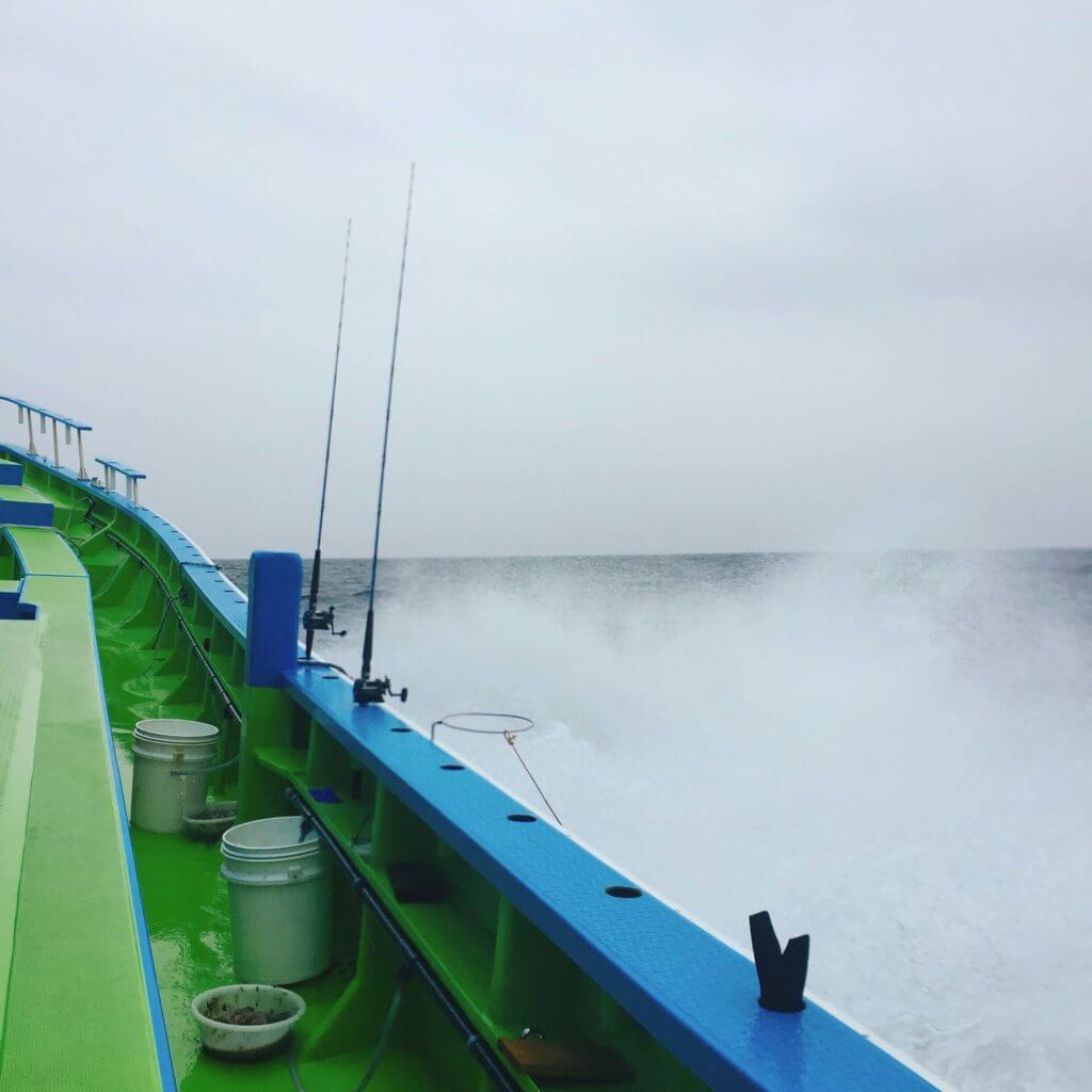 台風が来ているときの船釣り