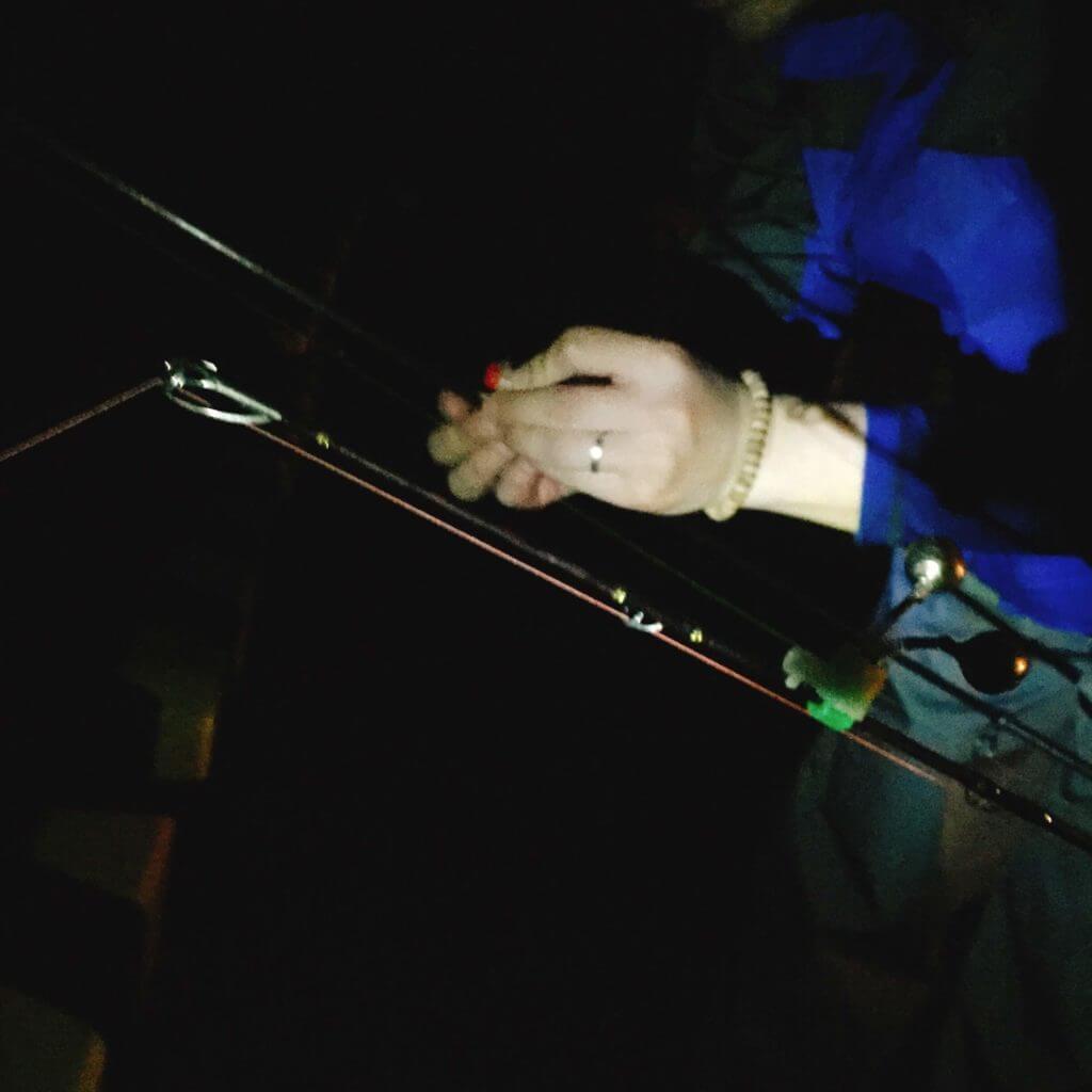 伊豆大島の夜釣りの準備