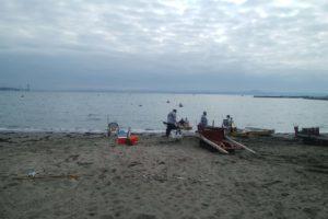 金田湾釣りの浜浦さんからの出船風景