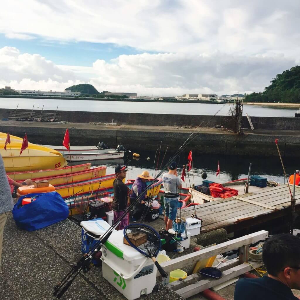 相川ボートの桟橋