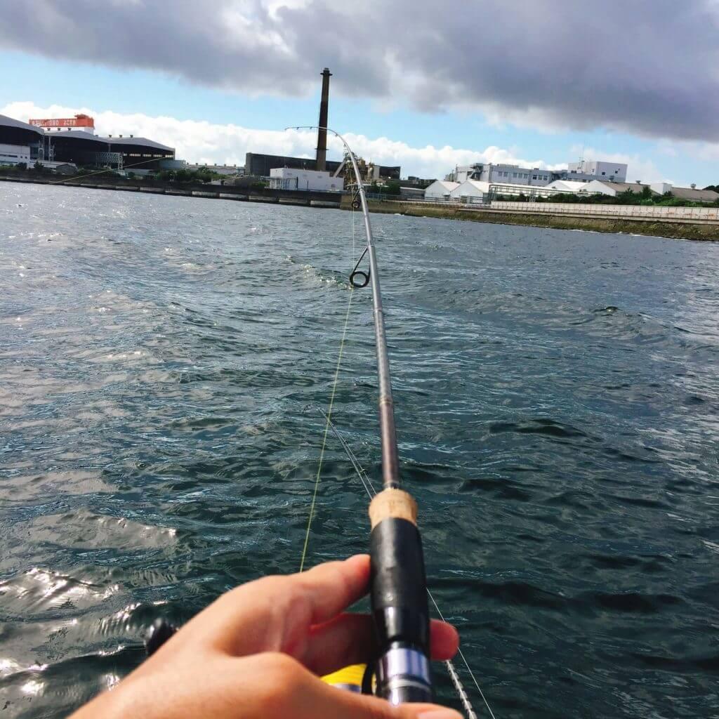 相川ボートでキス釣り