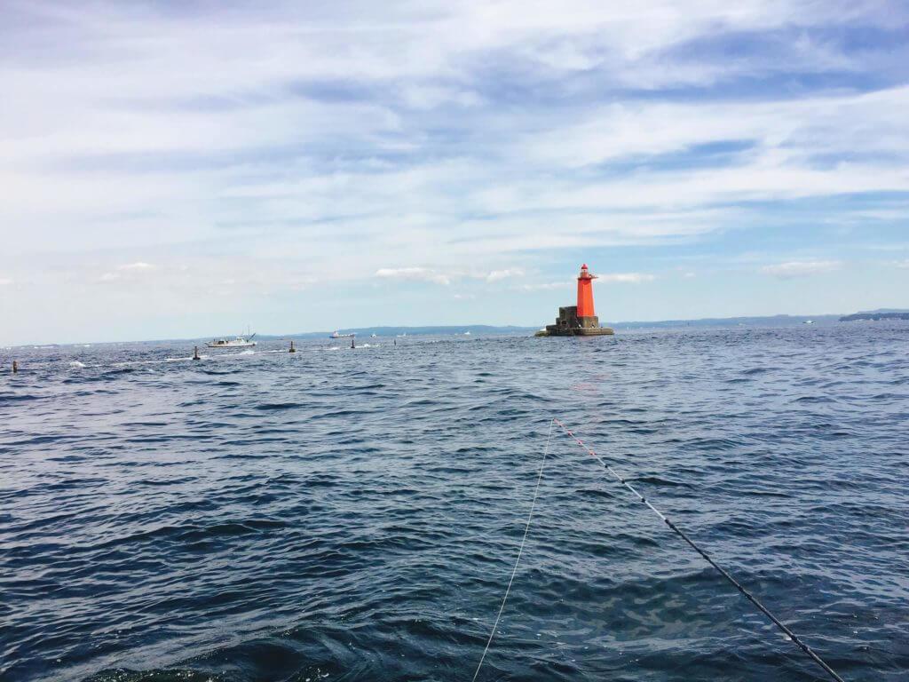 金沢八景 船釣り 野島沖堤赤灯付近