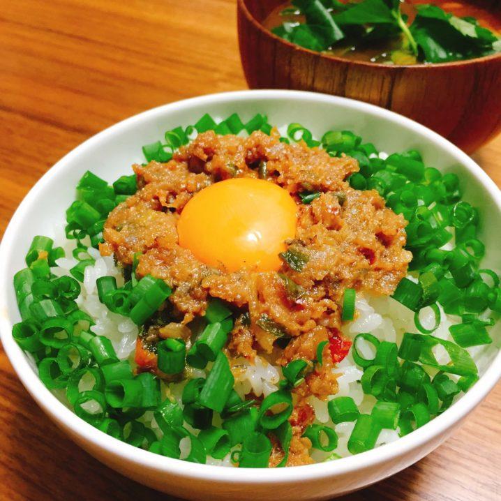 タチウオの台湾肉味噌ご飯