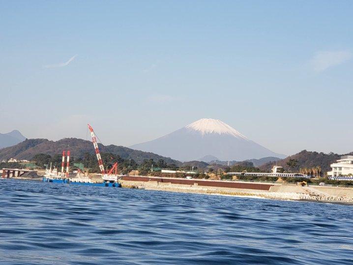 大磯からみた富士山