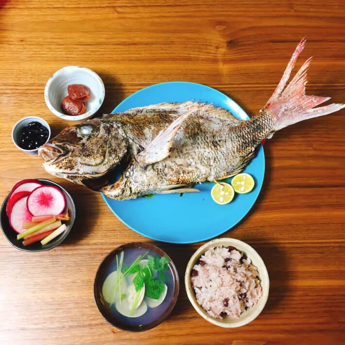 お食い初めの真鯛