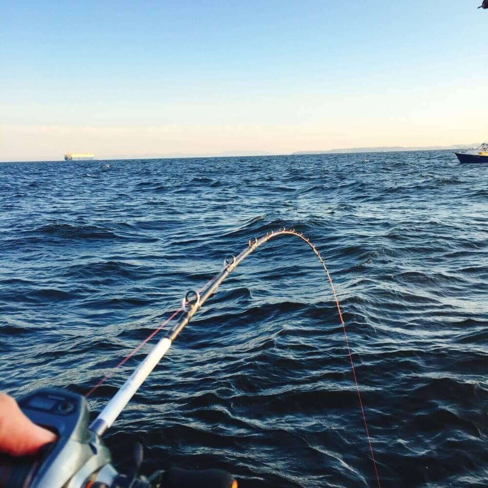 船釣りのロッドとリール