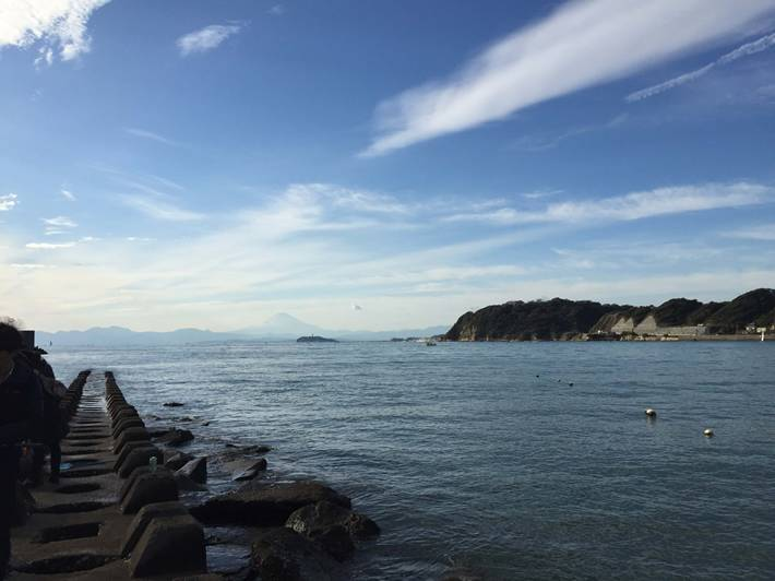 逗子海岸からみた相模湾
