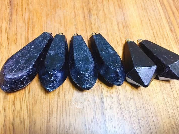 メバル用船オモリ(黒塗り)
