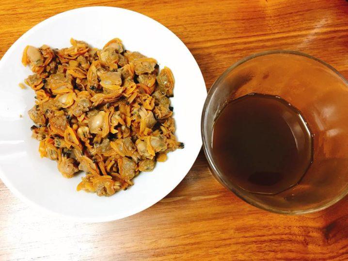 アサリの佃煮と煮汁