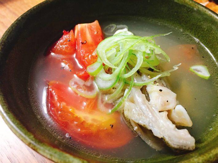 マゴチのアラ中華スープ