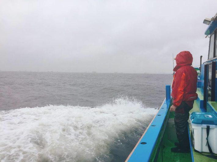 大雨での釣り