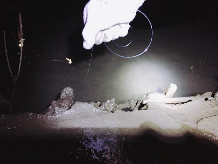 ウナギの穴釣り