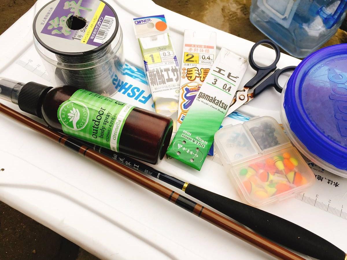テナガエビ釣りの道具