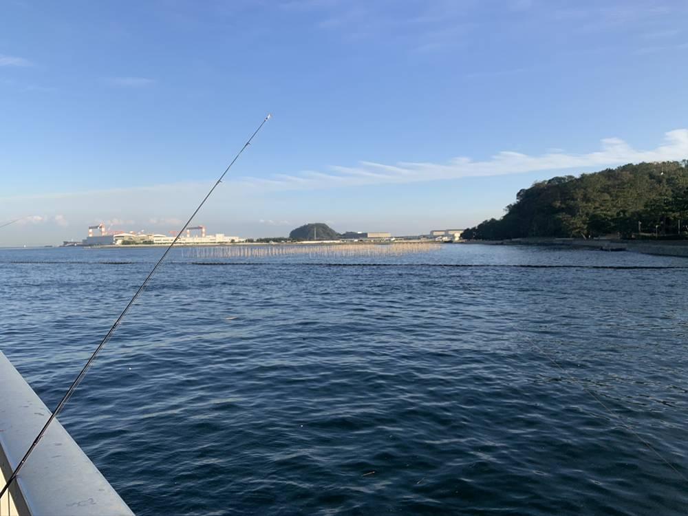 野島前で釣り