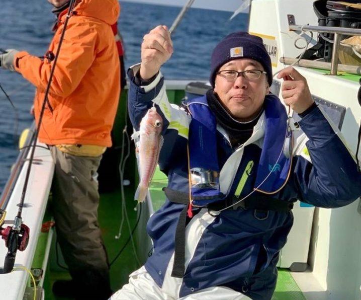 アマダイを釣った釣り人