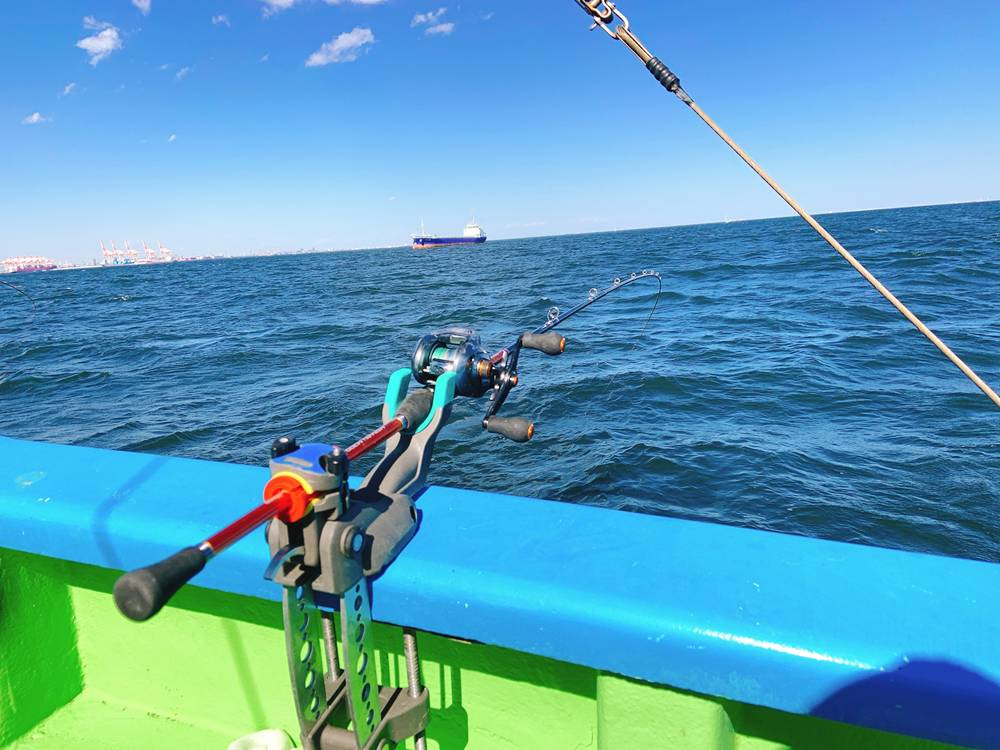 マゴチ釣りの置き竿