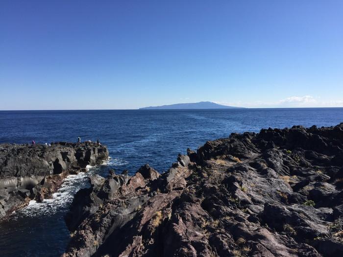 城ケ崎からみた伊豆大島