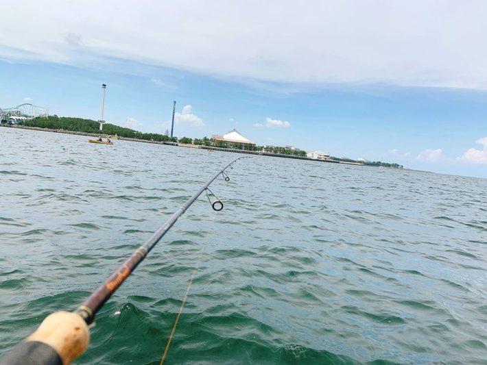 ボート釣り風景(キス釣り)