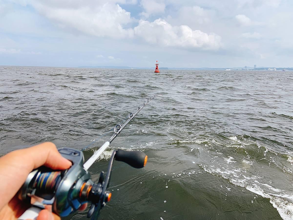 金沢八景沖でマゴチ釣り