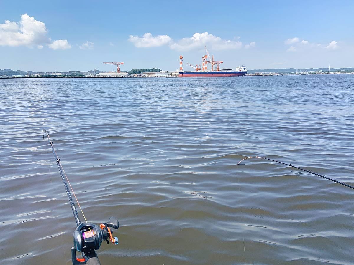 マゴチ釣りの釣り座