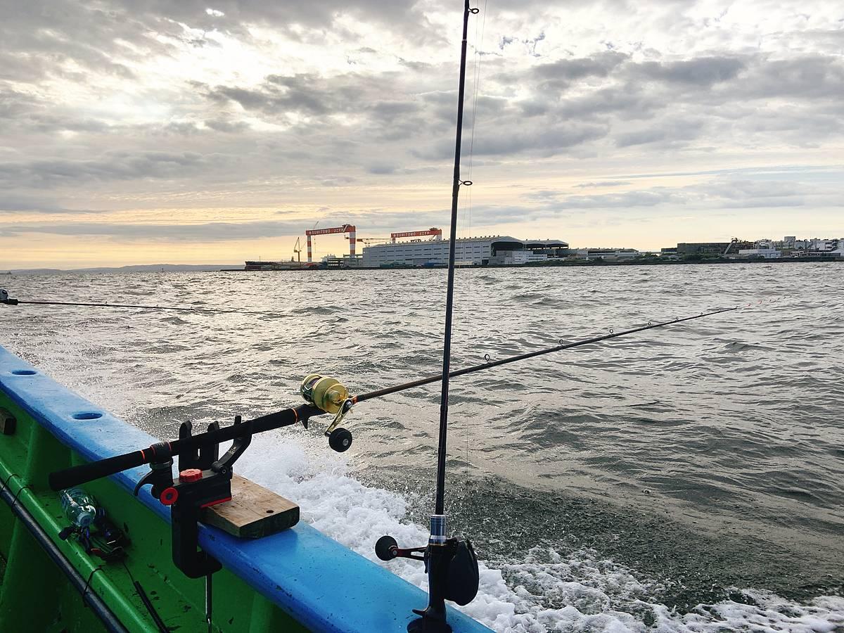 八景島付近。マゴチ釣りの釣り座