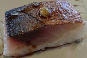 炙りしめ鯖寿司