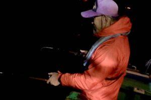 夜アナゴ釣り